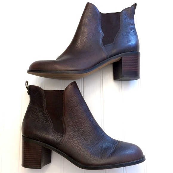 d682c0f850d756 Sam Edelman Justin brown leather gore ankle boot. M 5b3aaac404e33d53c75e8b7f